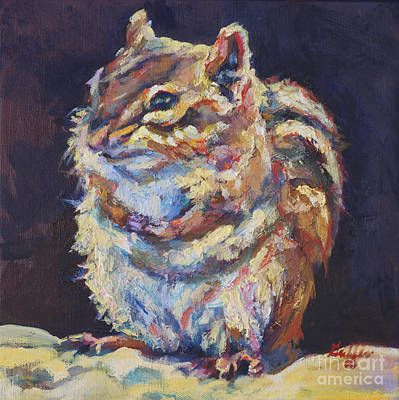 Squirrel Painting - Benjamin by Patricia A Griffin