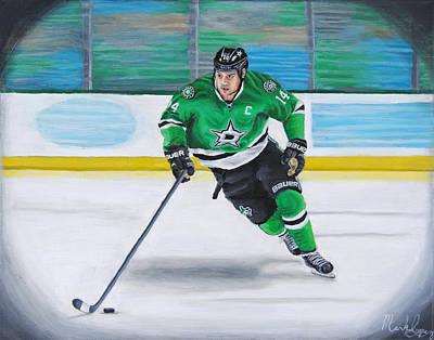 Hockey Painting - Benn And The Art by Mark Lopez
