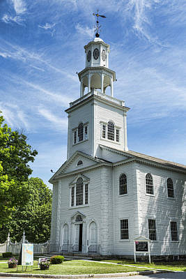 Bennington Photograph - Bennington First Congregational Church by Stephen Stookey