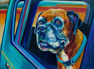 Boxer Painting - Benny's Boxer by Robert Pankey