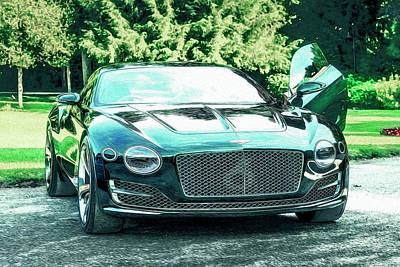 Lake Como Mixed Media - Bentley Exp 10 Speed Six 2015 by Duschan Tomic