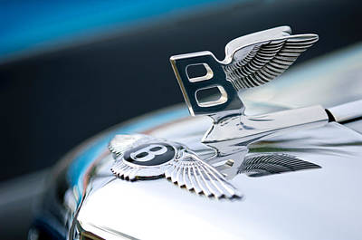 Bentley Hood Ornament Print by Jill Reger
