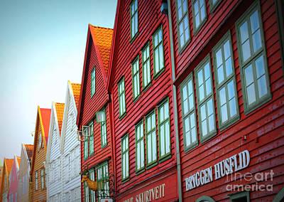 Bergen Brygge Print by Carol Groenen
