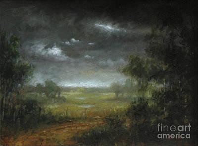 Berkshires Painting - Berkshire Dirt Road Study by Larry Preston