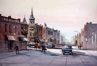 Watercolor Figure Painting - Berlin - Main Street by Ryan Radke
