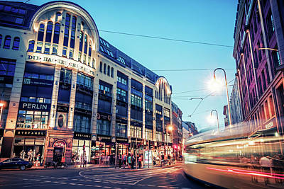Berlin Photograph - Berlin At Night - Hackescher Markt by Alexander Voss