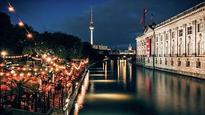 Berlin Photograph - Berlin At Night - Strandbar Mitte by Alexander Voss