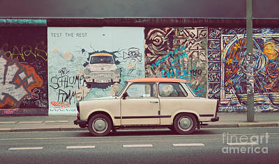 Mauer Photograph - Berlin East Side Gallery by JR Photography