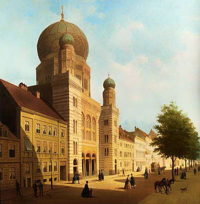 Berlin Germany Painting - Berlin Synagogue On Oranienburger Street by Mountain Dreams