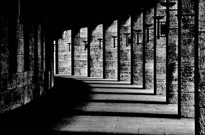 Black_white Photograph - Berliner Olympic Stadion by Susanne Stoop