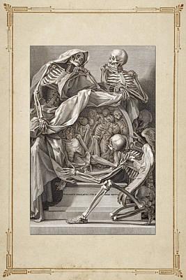 Uso Digital Art - Bernardino Genga's Anatomia Per Uso Et Intelligenza Del Disegno - Allegorical Emblems Of Death.  by Serge Averbukh