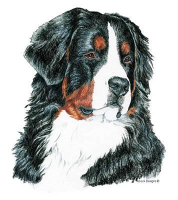 Pop Art Drawing - Bernese Mountain Dog by Kathleen Sepulveda