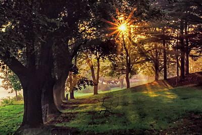 Sun Rays Digital Art - Bernharts Dam Fog 001 by Scott McAllister