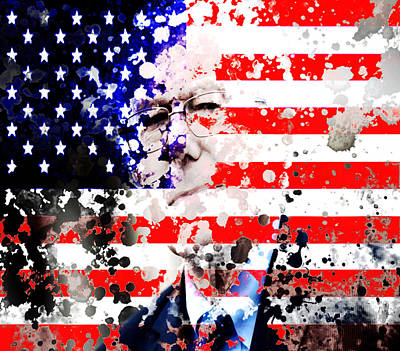George Bush Mixed Media - Bernie Sanders Shaking Things Up by Brian Reaves