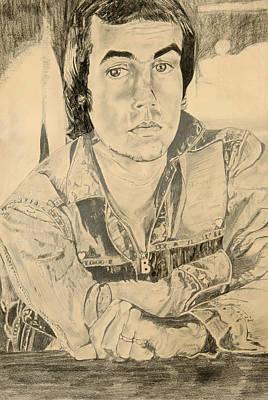 Elton John Drawing - Bernie Taupin by Suzanne Blender