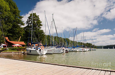 Jetty View Park Photograph - Berthed Sailing Boats Row by Arletta Cwalina