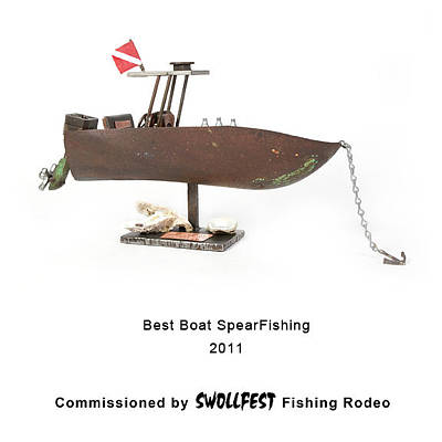 Sculpture - Best Boat Spearfishing by Benjamin Bullins