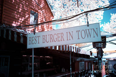 Best Burger In Town Print by John Rizzuto
