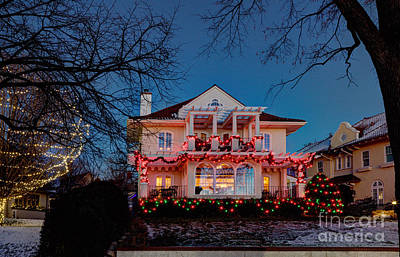 Best Christmas Lights Lake Of The Isles Minneapolis Print by Wayne Moran