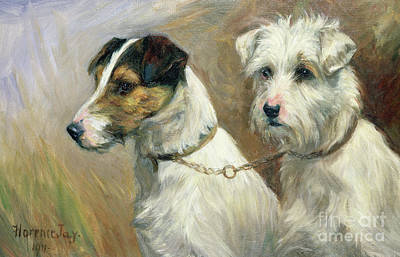 Maltese Dog Painting - Best Friends by Florence Jay