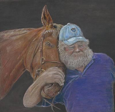 Baseball Cap Painting - Best Friends by Judy Booker