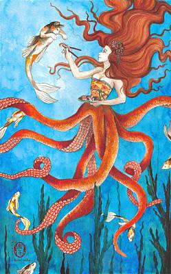 Catfish Painting - Best Friends by Rachel Walker