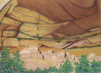 Pastel - Betatakin Cliffdwellers by Anne Katzeff