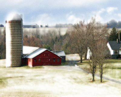 Bethel Barn Print by Tom Romeo