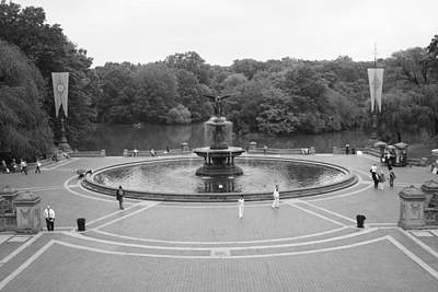 Bethesda Fountain Central Park New York Print by Christopher Kirby