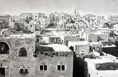 Old Town Drawing - Bethlehem Old Town by Munir Alawi