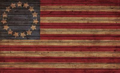 Democracy Mixed Media - Betsy Ross American Flag Barn by Dan Sproul