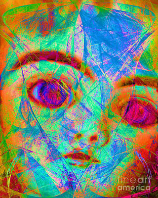 Haunted Digital Art - Bette Davis Eyes 20150922 by Wingsdomain Art and Photography