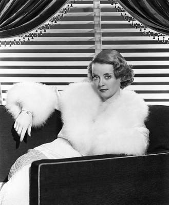 1930s Fashion Photograph - Bette Davis In The Mid 1930s by Everett