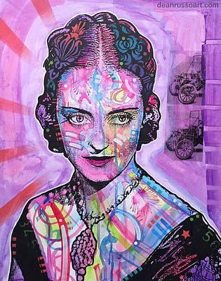 Bette Davis Purple Jezebel Original by Dean Russo