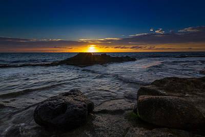Ko Olina Lagoon Photograph - Between A Rock And Hard Place by Donovan Gaboya