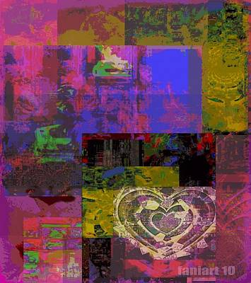 Faniart Digital Art - Between Heart And Conscious Reason For Reflex by Fania Simon