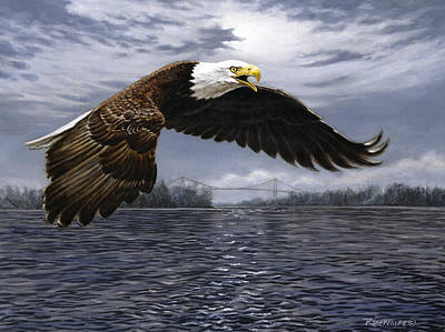 American Eagle Painting - Between Nations by Richard De Wolfe