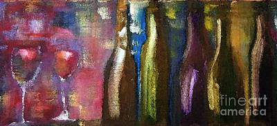 Bottle Painting - Beverage And Bottles by Lisa Kaiser