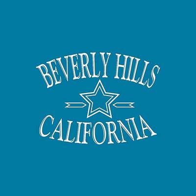 Buy Tshirts Tapestry - Textile - Beverly Hills California Tshirt Design by Art America Online Gallery