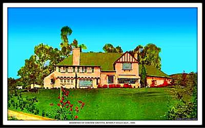 Beverly Hills Mixed Media - Beverly Hills Home Of Corinne Griffith, 1930's by Dwight Goss