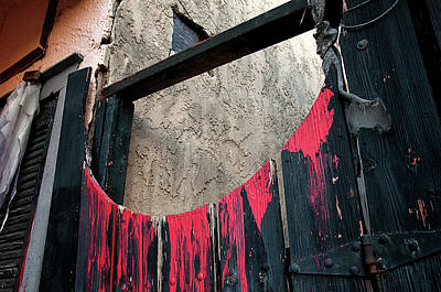 Drippy Photograph - Beware All Who Enter Here - Halloween Gate by Mitch Spence