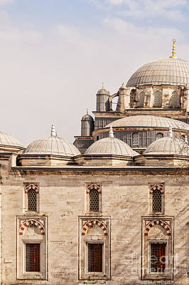 Beyazit Camii Mosque Print by Antony McAulay