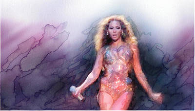 Singer Painting - Beyonce 4 by Jani Heinonen