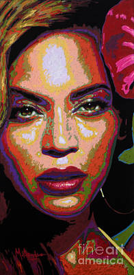 Jay Z Painting - Beyonce by Maria Arango