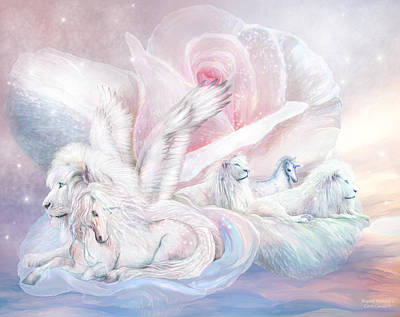 Lion Art Mixed Media - Beyond Fantasy 2 by Carol Cavalaris