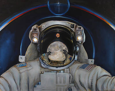 Astronauts Painting - Beyond by Simon Kregar