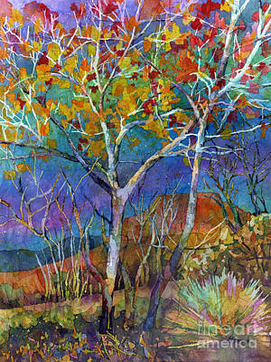 Canyon Painting - Beyond The Woods by Hailey E Herrera