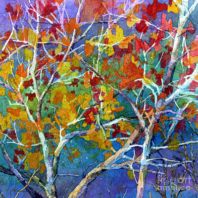 Impressionistic Landscape Painting - Beyond The Woods - Orange by Hailey E Herrera