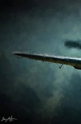 Digital Art - Bf-109 Intercept In Oil Triptych No 1 by Tommy Anderson