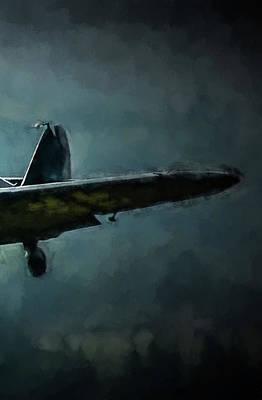 Digital Art - Bf-109 Intercept In Oil Triptych No 3 by Tommy Anderson